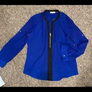 Calvin Klein blue blouse